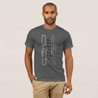 Heb de T-shirt van het Messing