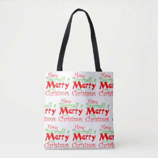 Heb de Vrolijke Vakantie van Kerstmis Draagtas