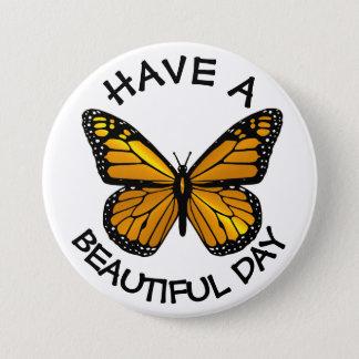 Heb een Mooie Knoop van de Vlinder van de Monarch Ronde Button 7,6 Cm