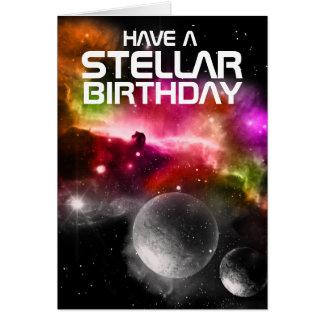 Heb een Stellair Wenskaart van de Verjaardag