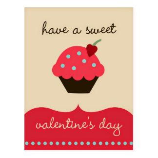 Heb een zoete Valentijnsdag! Grappig Briefkaart
