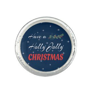 Heb heel Kerstmis van de Hulst Foto Ring