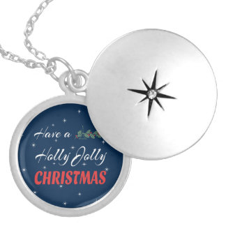 Heb heel Kerstmis van de Hulst Zilver Vergulden Ketting