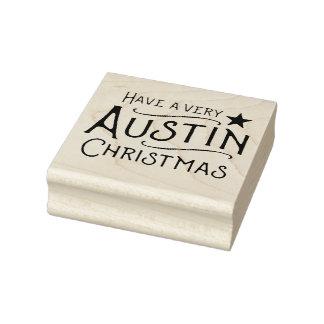 Heb zeer een RubberZegel van Texas van Kerstmis Rubberenstempel