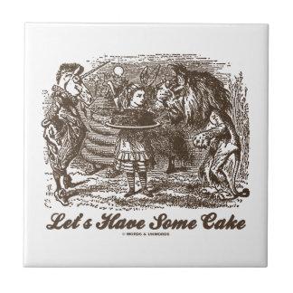 Hebben Één of andere Cake (Alice Unicorn Lion) Keramisch Tegeltje