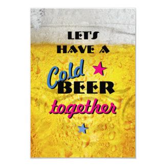 Hebben samen een Koud Bier 8,9x12,7 Uitnodiging Kaart