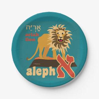 Hebreeuwse Aleph wedde de Borden van het Document Papieren Bordje