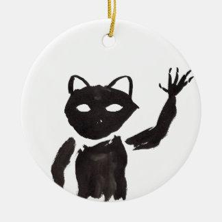 Heebie-Jeebie Rond Keramisch Ornament
