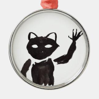 Heebie-Jeebie Zilverkleurig Rond Ornament