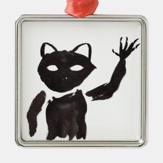 Heebie-Jeebie Zilverkleurig Vierkant Ornament