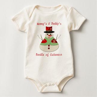 Heel de Bundel van de Sneeuwman van Cuteness Baby Shirt