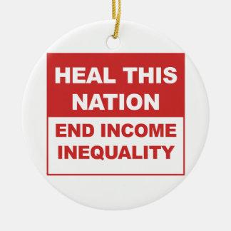 Heel Deze Natie - beëindig de Ongelijkheid van het Rond Keramisch Ornament