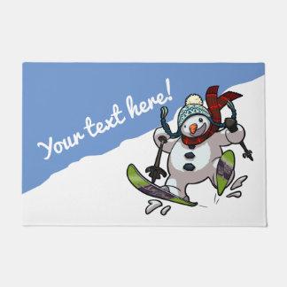 Heel het Ski?en de Cartoon van Kerstmis of van de Deurmat
