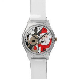 Heel Kerstman en Rendier #1 Horloge