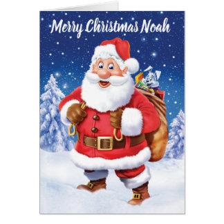 Heel Kerstman met de douaneKerstkaart van de Briefkaarten 0
