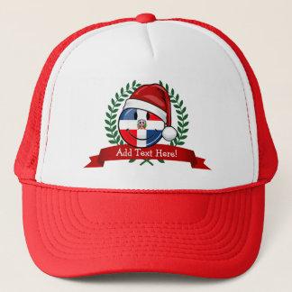 Heel Kerstmis van de Vlag van de Dominicaanse Trucker Pet