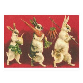 Heel kleine Drie Konijnen Briefkaart