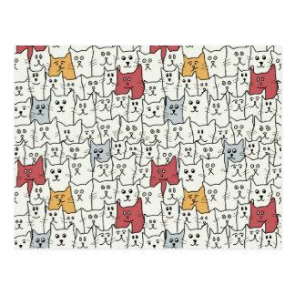 Heel wat grappige katten briefkaart