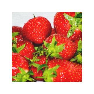 Heerlijke Aardbeien Canvas Afdruk