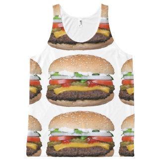 heerlijke cheeseburger met groenten in het All-Over-Print tank top