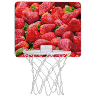 heerlijke donkere roze aardbeienfoto mini basketbalbord