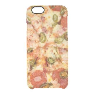 heerlijke gehele jalapenofoto van pizzapepperonis doorzichtig iPhone 6/6S hoesje