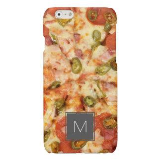 heerlijke gehele jalapenofoto van pizzapepperonis glossy iPhone 6 hoesje