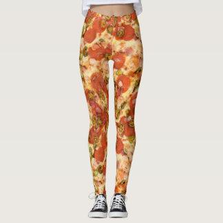heerlijke gehele jalapenofoto van pizzapepperonis leggings