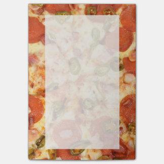 heerlijke gehele jalapenofoto van pizzapepperonis post-it® notes