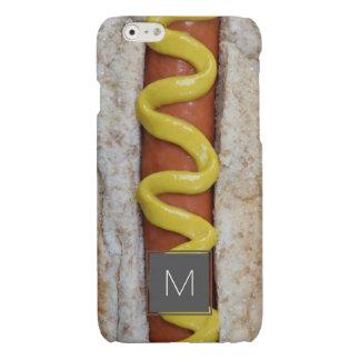 heerlijke hotdog met mosterdfoto iPhone 6 hoesje glanzend