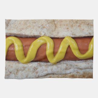 heerlijke hotdog met mosterdfoto theedoek