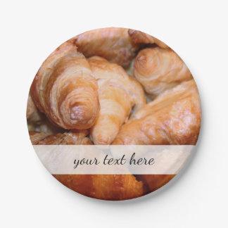 Heerlijke klassieke Franse croissantenfoto Papieren Bordje