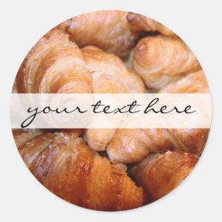 Heerlijke klassieke Franse croissantenfoto Ronde Sticker