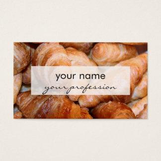 Heerlijke klassieke Franse croissantenfoto Visitekaartjes