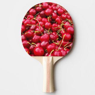heerlijke leuke rode kersenvruchten foto tafeltennis bat
