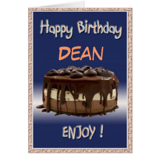 Heerlijke persoonlijke Verjaardag/cake   Wenskaart