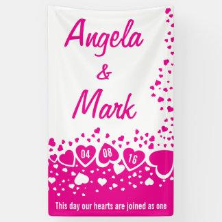 Heet Roze Harten Gepersonaliseerd Huwelijk
