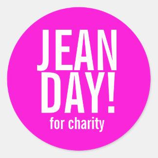 Heet Roze Jean Day Stickers