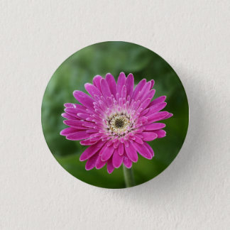 Heet roze madeliefje ronde button 3,2 cm