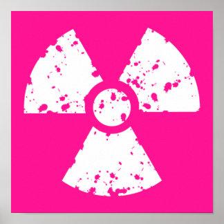 Heet Roze Radioactief teken Poster
