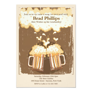 Hef een Glas van de Uitnodiging van het Bier op 12,7x17,8 Uitnodiging Kaart