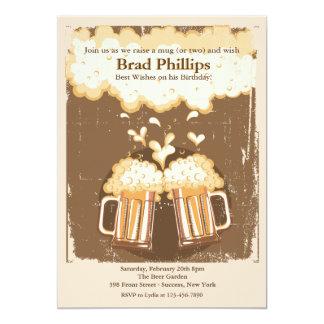 Hef een Glas van de Uitnodiging van het Bier op