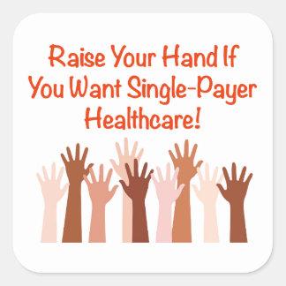 Hef Uw Hand voor de Gezondheidszorg van de Vierkante Sticker