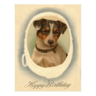 Hefboom Russell Terrier Collar Birthday Briefkaart