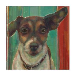Hefboom Russell Terrier op Houten Canvas