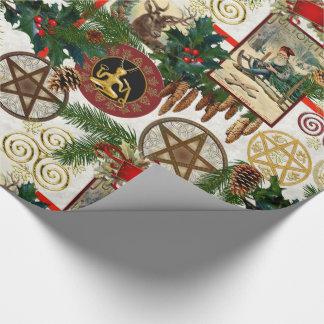 Heidense Kersttijd & Vintage Victoriaans Cadeaupapier