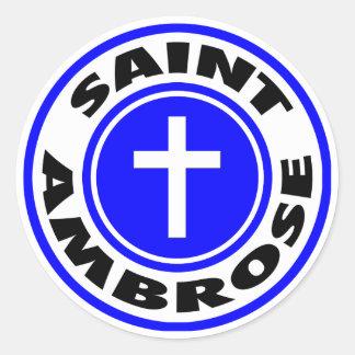 Heilige Ambrose Ronde Sticker