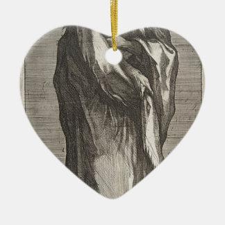 Heilige Andrew Keramisch Hart Ornament