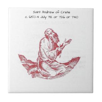 Heilige Andrew van Kreta Tegeltje