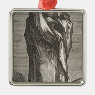 Heilige Andrew Zilverkleurig Vierkant Ornament
